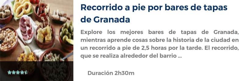 Recorrido por bares de tapas de Granada