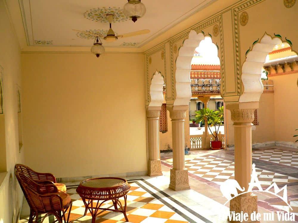 El hotel Amar Mahal en Orchha