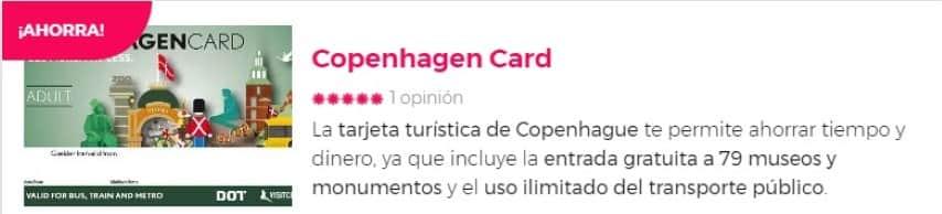 Tarjeta de descuentos para visitar Copenhague