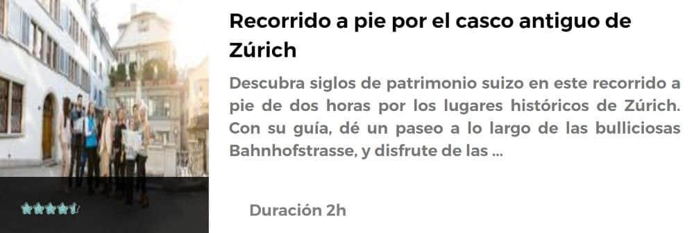 Recorrido por el casco antiguo de Zúrich