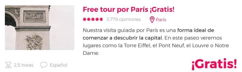 Free tour por París