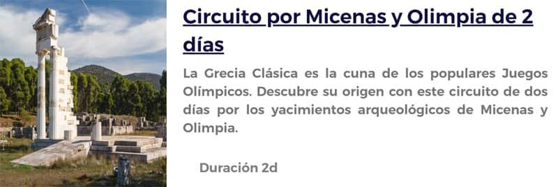 Circuito por Micenas y Olimpia