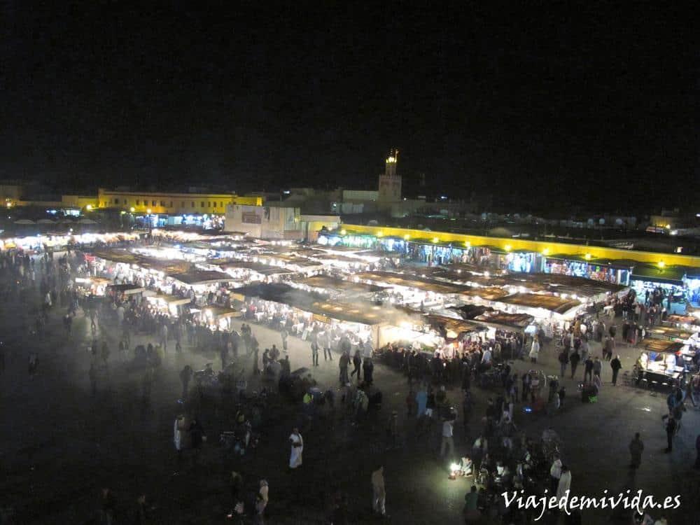 Plaza Yamaa el Fna en Marrakech