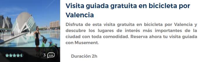 Visita guiada en bicicleta por Valencia