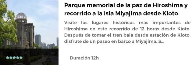 Excursión a Hiroshima y a Miyajima