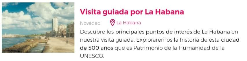 Visita guiada por La Habana