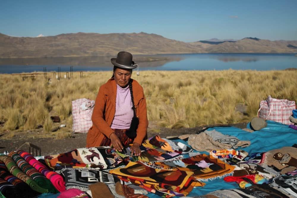 Lago Lagunillas en Perú