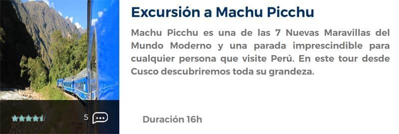 Excursión a Machu Picchu en un día