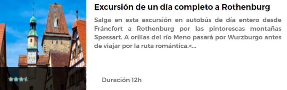 Excursión a Rothenburg