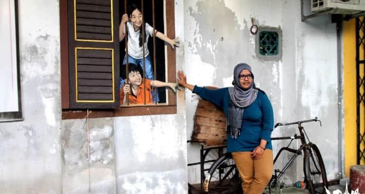 Arte urbano en George Town, Malasia