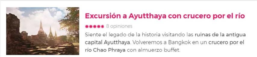 Excursión a Ayutthaya