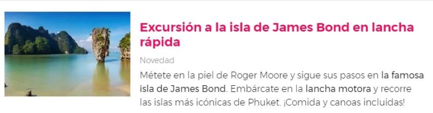 Excursión a la isla de James Bond