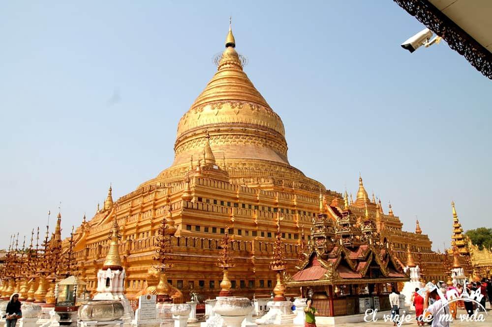 La pagoda Shwezigon de Bagan