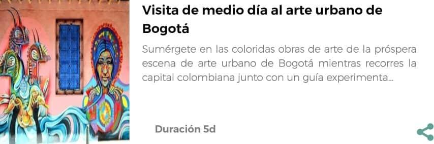 Visita al arte urbano de Bogotá