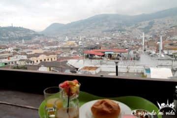 Vistas de Quito desde el hostel Secret Garden