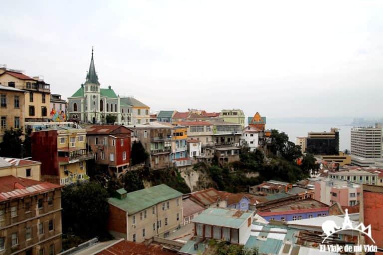 Vistas desde los cerros en Valparaíso