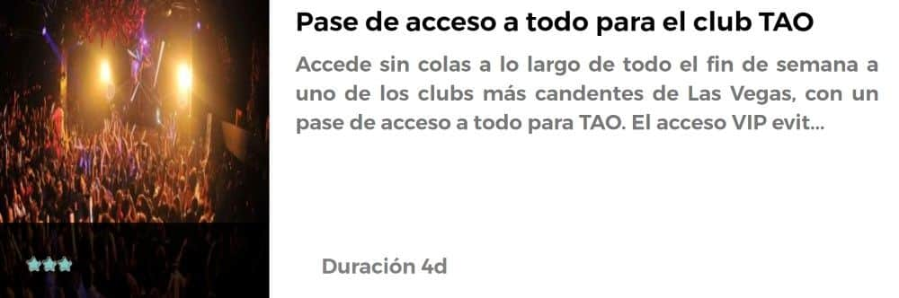 Pase al Club TAO