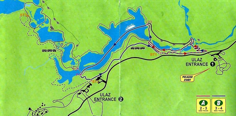 Ruta A-B del Parque Nacional de los Lagos de Plitvice