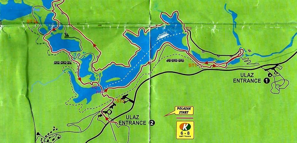 Ruta K del Parque Nacional de los Lagos de Plitvice