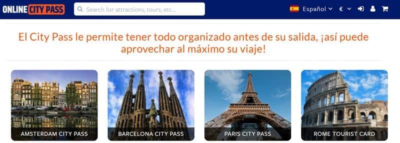 Tarjetas de descuento para visitar ciudades